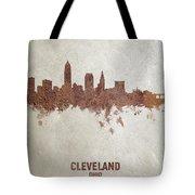 Cleveland Ohio Rust Skyline Tote Bag