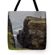 Cliff Vigil At Esha Ness On Shetland Mainland Tote Bag