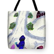 Climbing To The Top Of The Hill Tote Bag