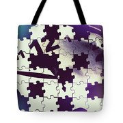 Clock Holes And Puzzle Pieces Tote Bag