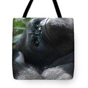 Close-up Shot Of Silverback Gorilla Making An Angry Face Tote Bag