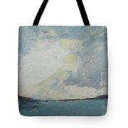 Cloud Above The Sea Tote Bag