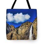 Clouds Abover Upper Yosemite Fall Tote Bag