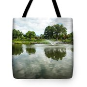 Clouds On Ashley Pond Tote Bag