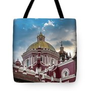Clouds Over Puebla Cathedral Tote Bag