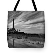 Clouds Over The Chipiona Faro Tote Bag