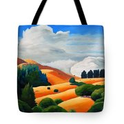 Clouds Over Windy Hill Tote Bag