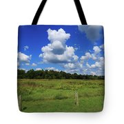 Clouds Surround The Landscape Tote Bag