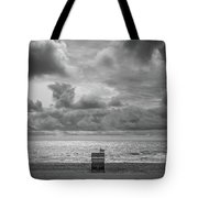 Cloudy Morning Rough Waves Tote Bag