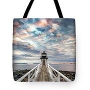 Cloudy Skies At Marshall Point Tote Bag