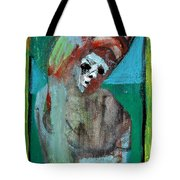 Clown At A Table Tote Bag