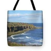 coastal bay at Cove with cliffs Tote Bag