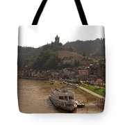 Cochem Castle, Town And River Mosel In Germany Tote Bag
