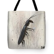Cockroach With Martini Tote Bag by Rick Baldwin