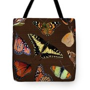 Collage Of Ca Butterflies Tote Bag