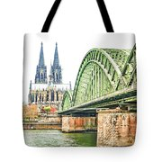 Cologne Cathedral Tote Bag by Fran Riley