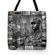 Colonel Trimble Collage Tote Bag by Al Harden