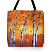 Color Forest Landscape Tote Bag