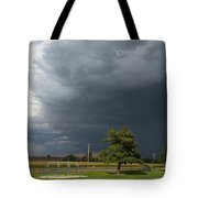 Color In The Storm Tote Bag
