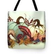 Color Me Autumn - Pumpkins And Mushrooms Tote Bag