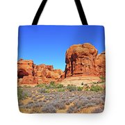Colorado Arches Park Landscape Scrub Red Rocks Blue Sky 3335 Tote Bag