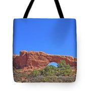 Colorado Arches Rock, Scrub Blue Sky 3397 Tote Bag