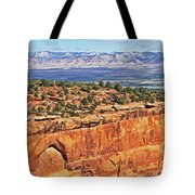 Colorado National Monument Trees Rock Formations 3087 Tote Bag