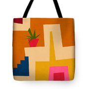 Colorful Geometric House 2- Art By Linda Woods Tote Bag