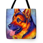 Colorful German Shepherd Dog Tote Bag