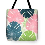 Colorful Palm Leaves 1- Art By Linda Woods Tote Bag