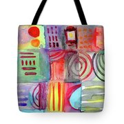 Colorful Patchwork 1- Art By Linda Woods Tote Bag
