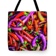 Colorful Peppers Tote Bag