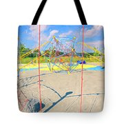Colorful Playground Tote Bag by Dan Sproul