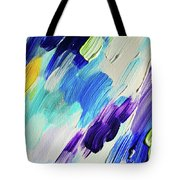 Colorful Rain Fragment 1. Abstract Painting Tote Bag
