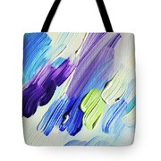 Colorful Rain Fragment 2. Abstract Painting Tote Bag