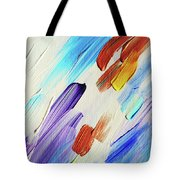 Colorful Rain Fragment 3. Abstract Painting Tote Bag