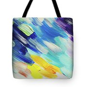 Colorful Rain Fragment 5. Abstract Painting Tote Bag
