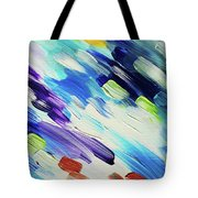 Colorful Rain Fragment 6. Abstract Painting Tote Bag