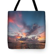 Colorful Sandsprit Sunrise Tote Bag by Tom Claud