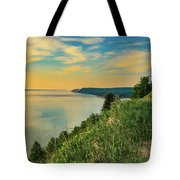 Colorful Sunset Sky Over Sleeping Bear Dunes Tote Bag by Dan Sproul