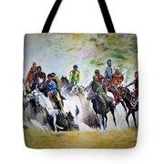 Colors In Buzkash Sport Tote Bag