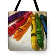 Colorwheel Crayons Tote Bag
