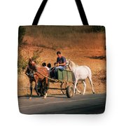 Come Back Home Before Dusk Tote Bag