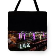 Coming And Going In The Heart Of L A At Night-time Tote Bag