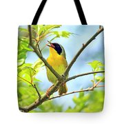 Common Yellowthroat Singing His Little Heart Out Tote Bag