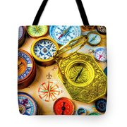 Compass And Compass Rose Tote Bag