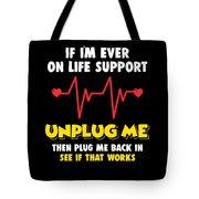 Computer Unplug Geek Pun Apparel Tote Bag