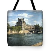 Contemplating The Louvre Tote Bag
