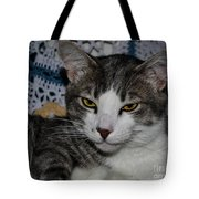 Content Cat Tote Bag