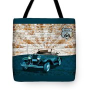 Convertible Vintage Car Tote Bag